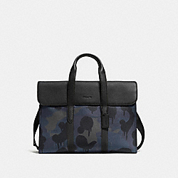 METROPOLITAN PORTFOLIO WITH WILD BEAST PRINT - BLUE WILD BEAST/BLACK COPPER - COACH 59431