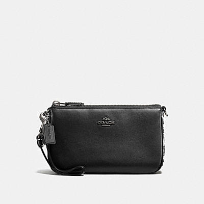 NOLITA WRISTLET 19 IN GLOVETANNED LEATHER WITH SNAKE DETAIL