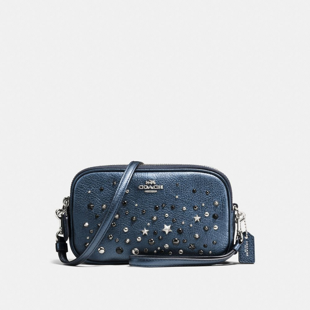 Coach Crossbody Clutch With Star Rivets