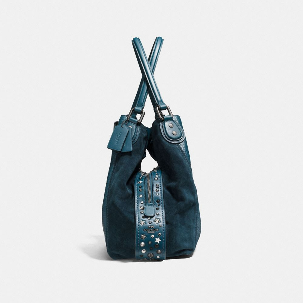 Edie Shoulder Bag 42 in Mixed Leathers With Star Rivets - Alternate View A1