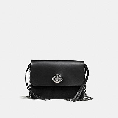 BOWERY CROSSBODY IN REFINED CALF LEATHER WITH STAR RIVETS