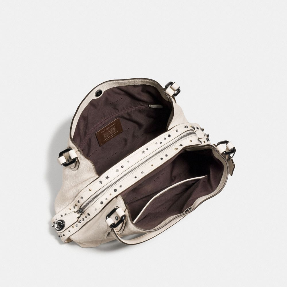 Edie Shoulder Bag 31 in Polished Pebble Leather With Star Rivets - Alternate View A2