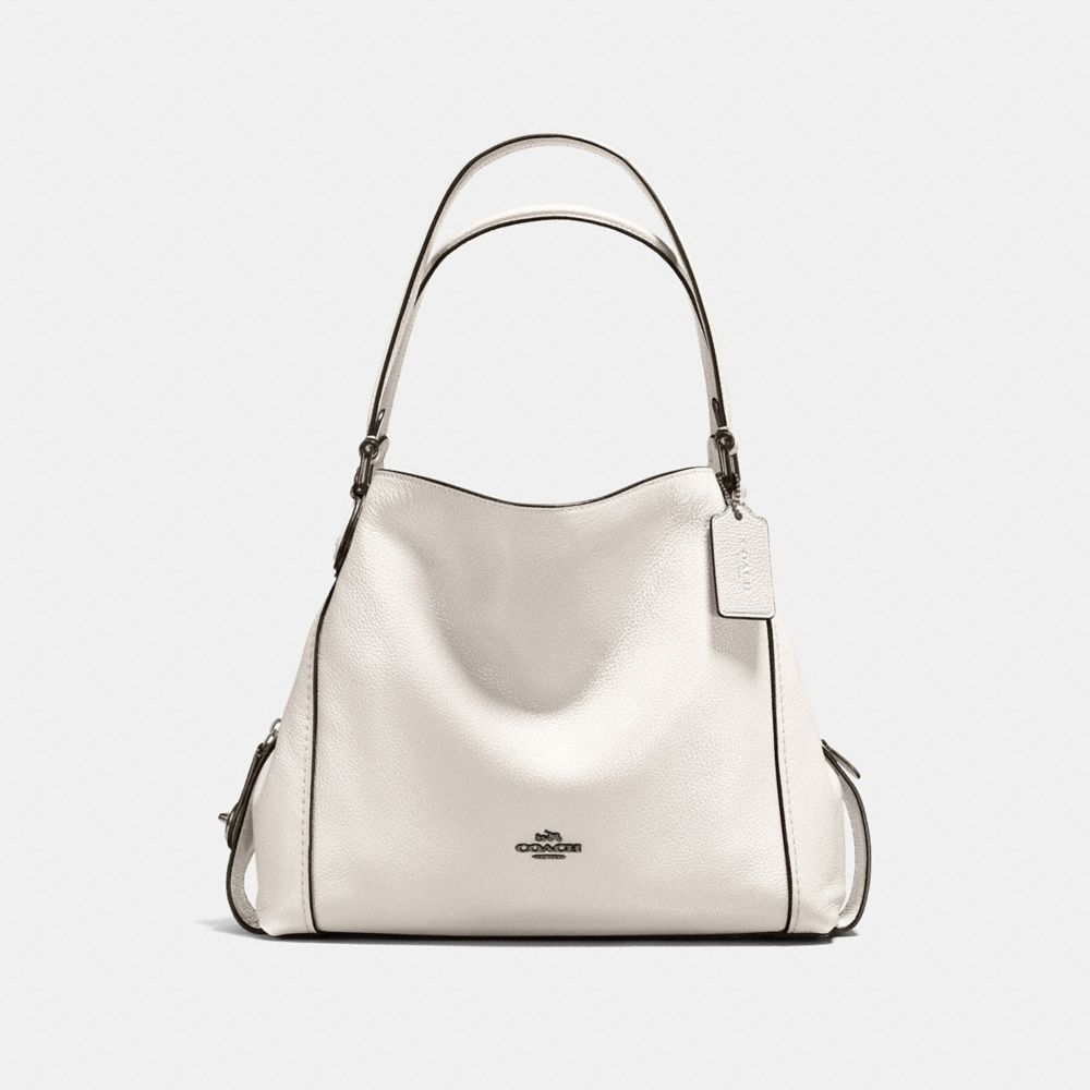 EDIE SHOULDER BAG 31 IN POLISHED PEBBLE LEATHER WITH STAR RIVETS - Alternate View