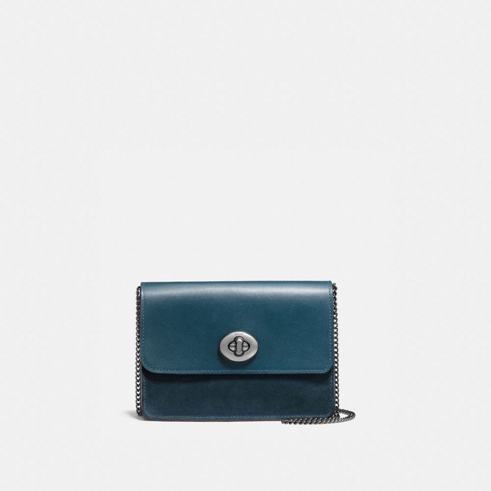 BOWERY CROSSBODY IN MIXED LEATHERS