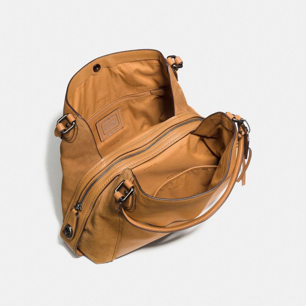 EDIE SHOULDER BAG 31 IN MIXED LEATHERS - Alternate View
