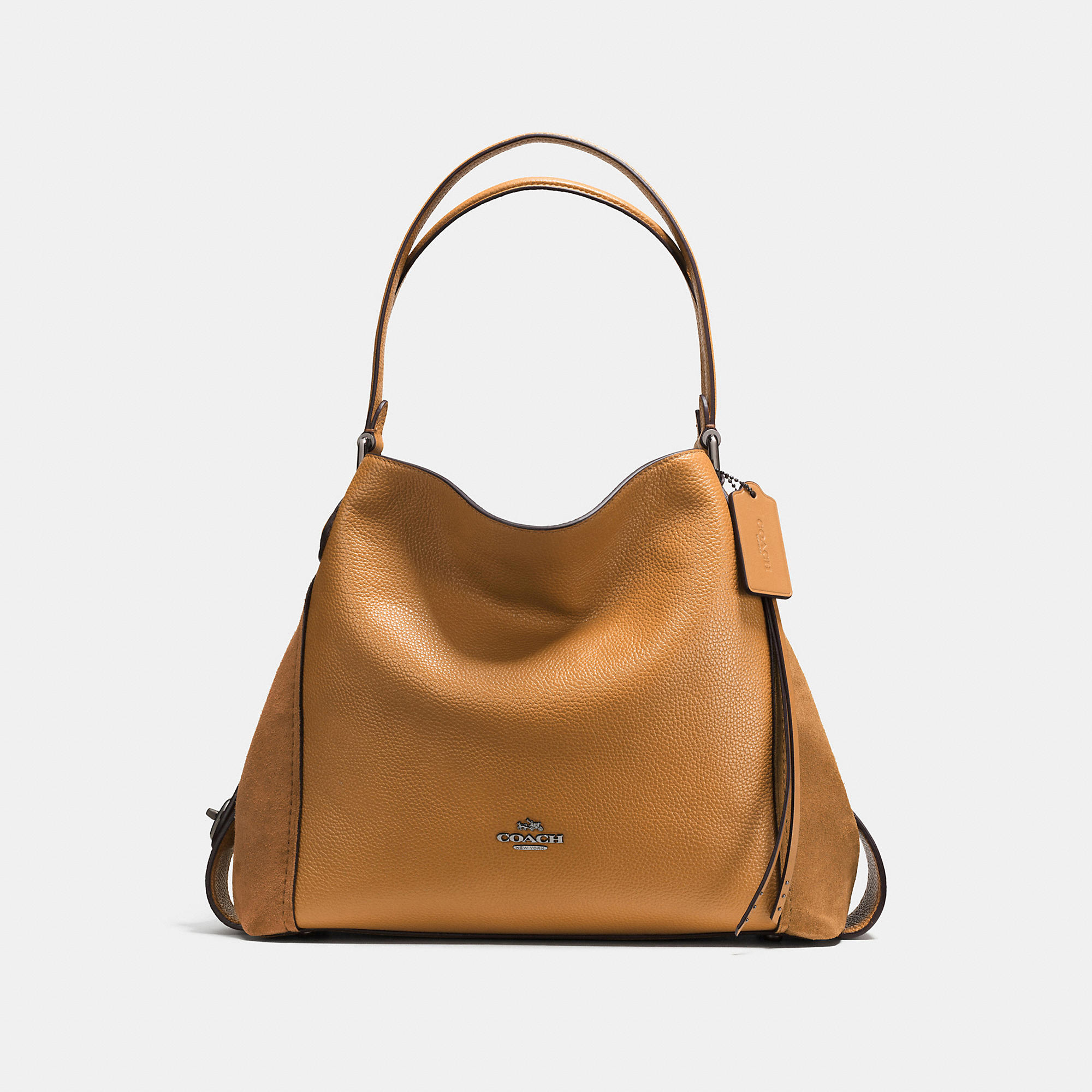 Coach Edie Shoulder Bag 31 In Mixed Leathers