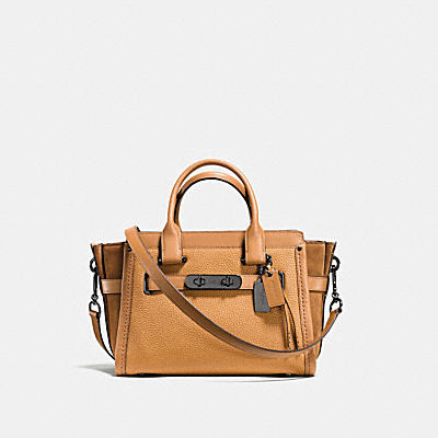 COACH SWAGGER 27 IN MIXED LEATHERS