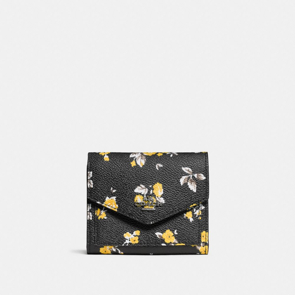 SMALL WALLET IN PRAIRIE PRINT COATED CANVAS