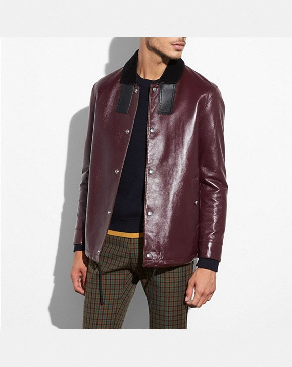 Coach Leather Coach Jacket