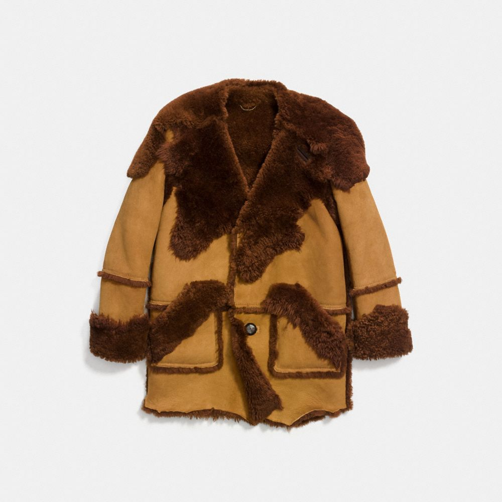 Coach Shearling Coat Alternate View 1