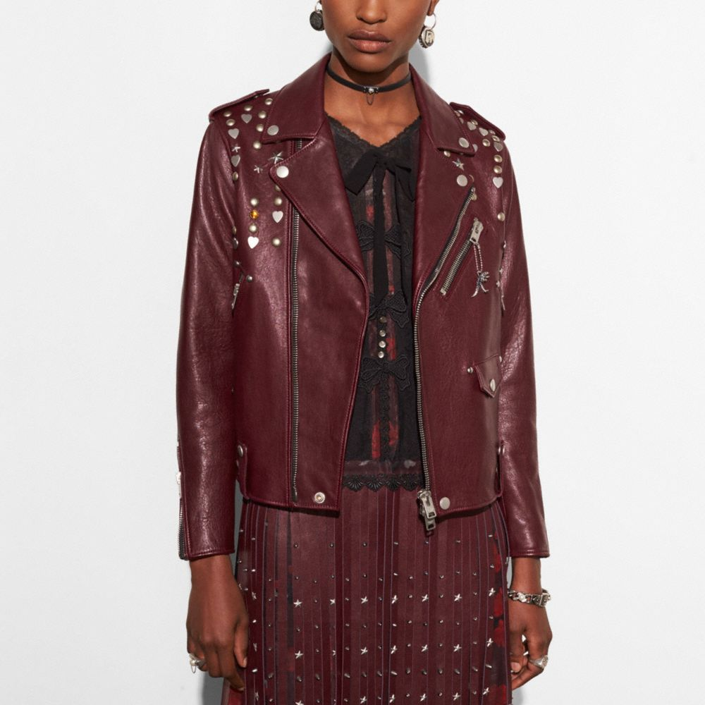 Moto Jacket With Beatnik Rivets