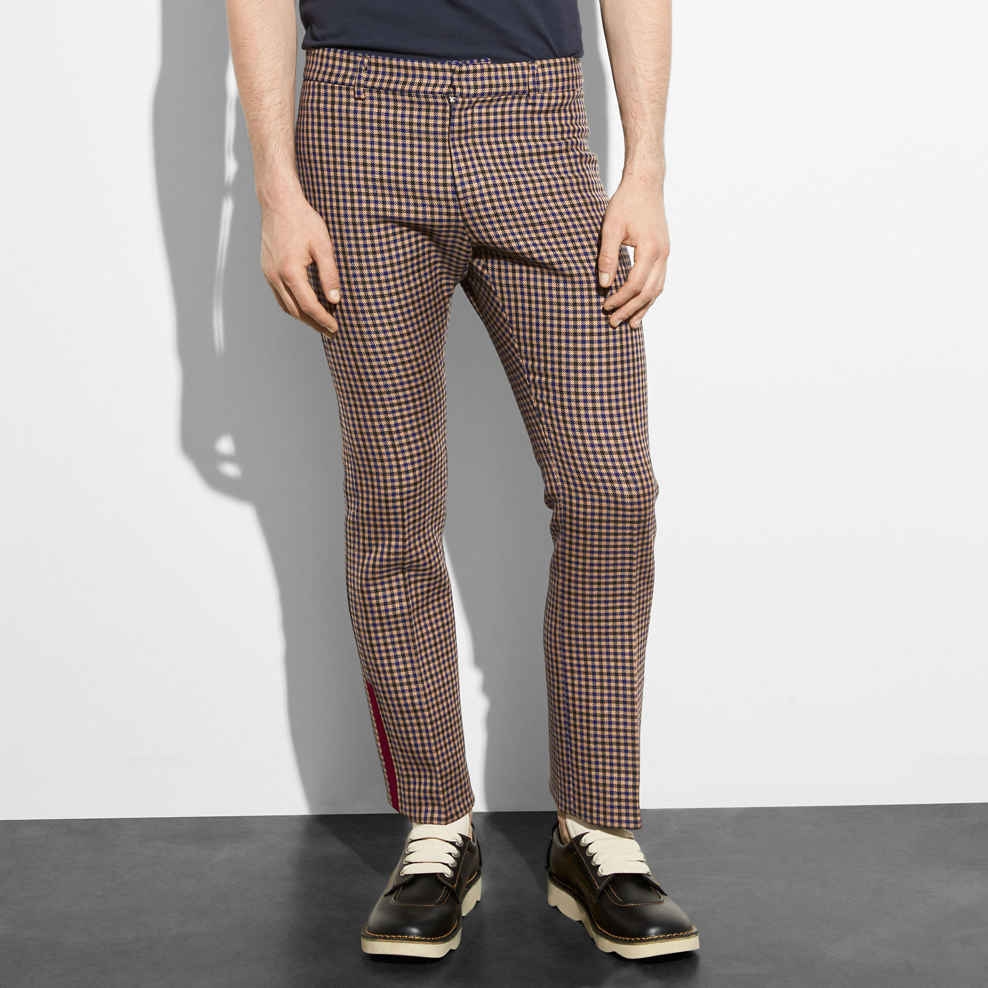 Coach Gingham Flare Trousers