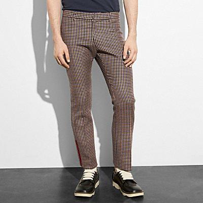 格紋喇叭褲