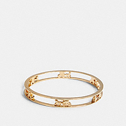 HORSE AND CARRIAGE BANGLE - GOLD - COACH 5964