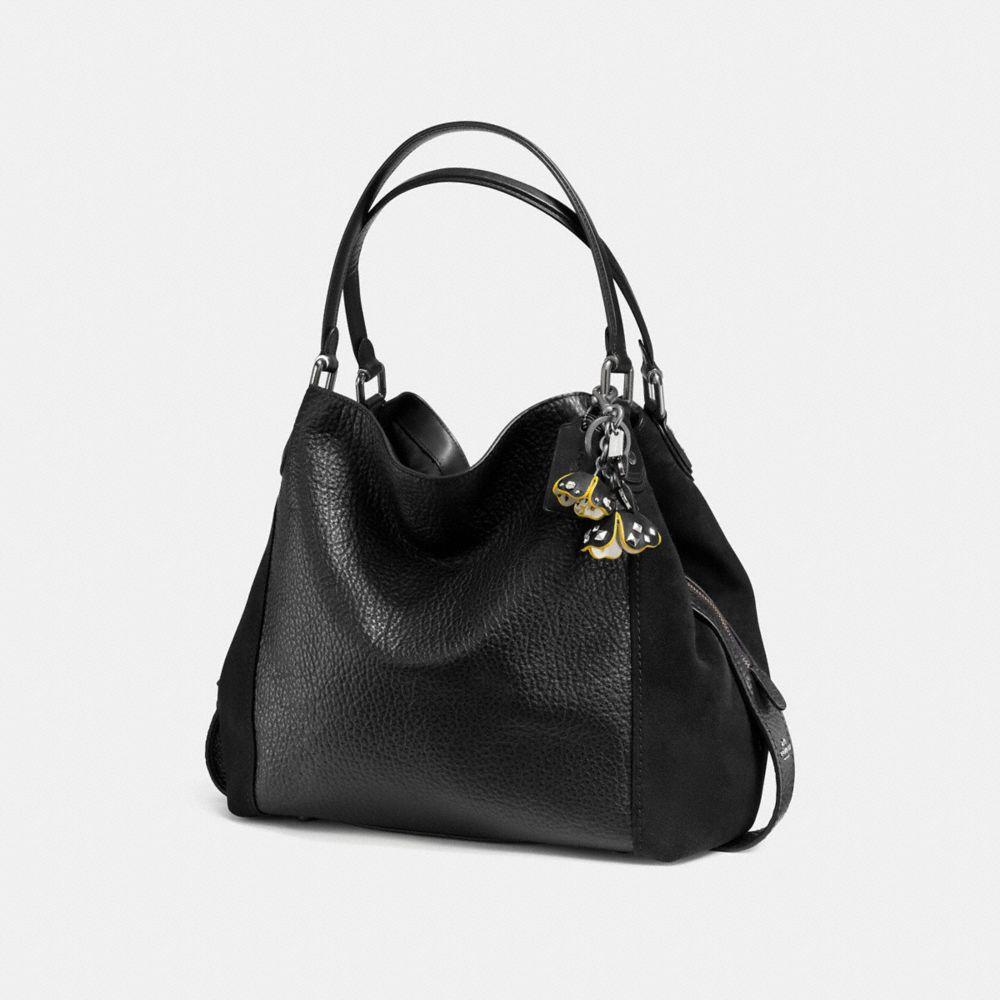 Coach Floral Printed Tea Rose Bag Charm Alternate View 1