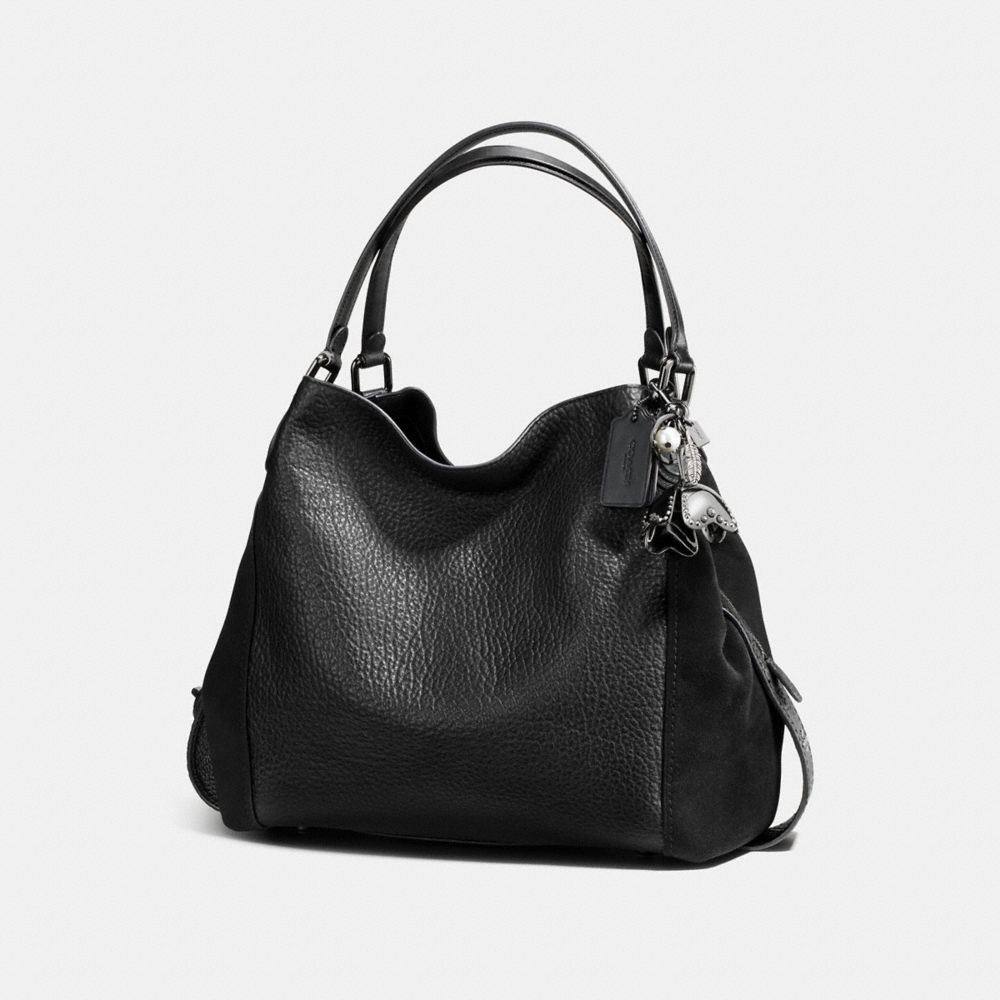 Coach Studded Large Tea Rose Bag Charm Alternate View 1