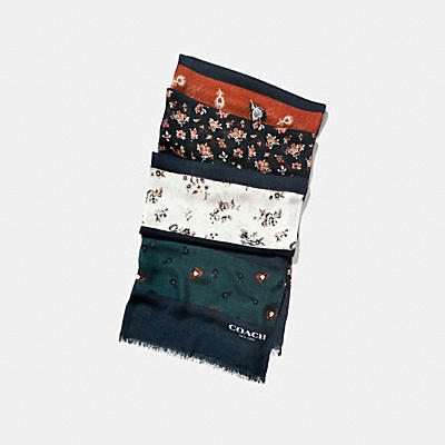 PUNK ROSES AND FEATHER PATCHWORK OBLONG