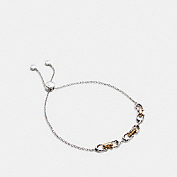 LINKED SIGNATURE SLIDER BRACELET - SILVER/GOLD - COACH 5976