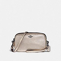 SADIE CROSSBODY CLUTCH - PLATINUM/GUNMETAL - COACH 59952