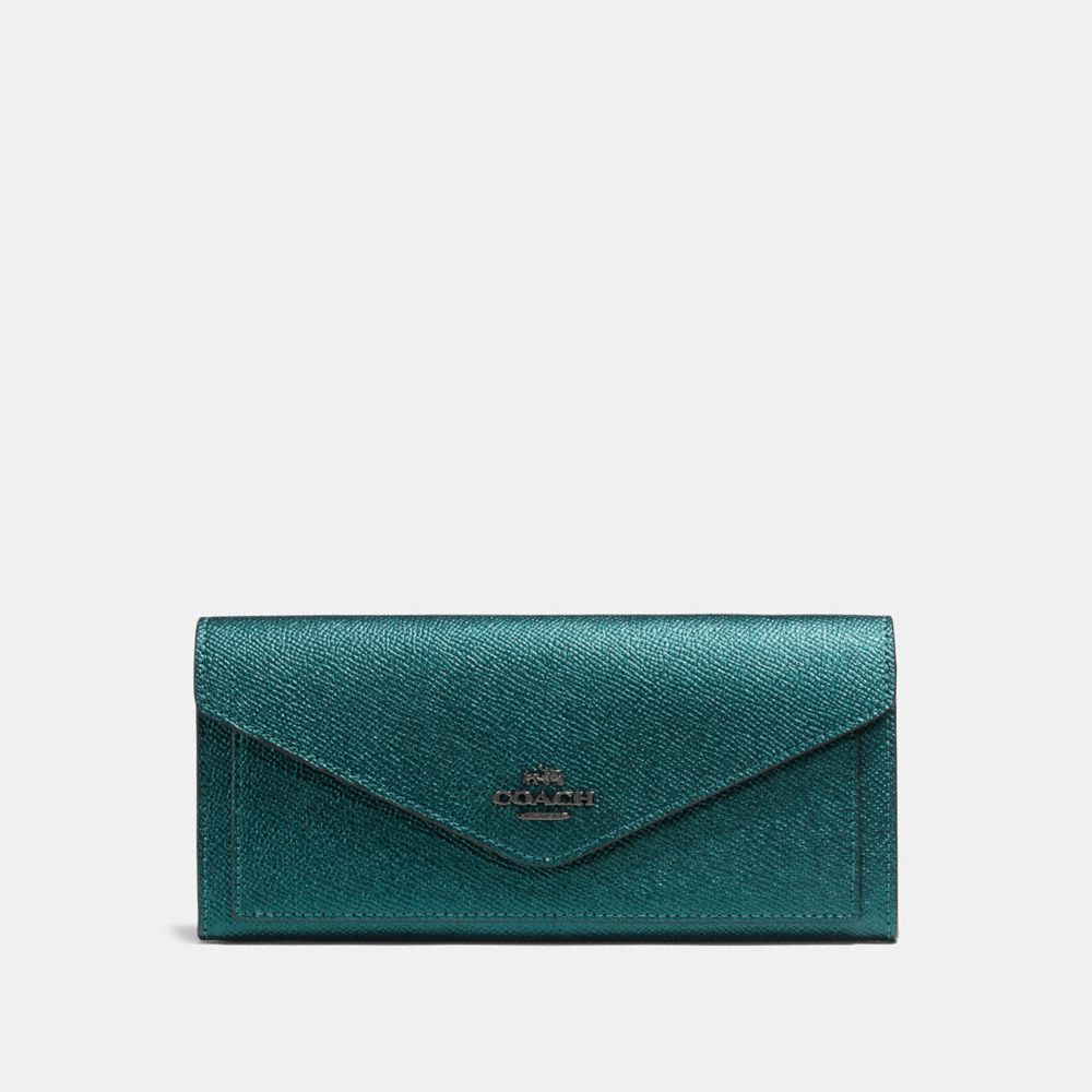 SOFT WALLET IN METALLIC LEATHER