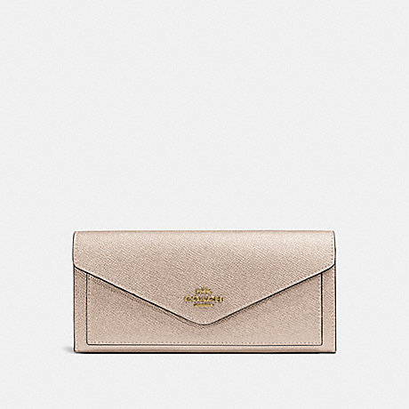 COACH SOFT WALLET - LI/PLATINUM - 59970