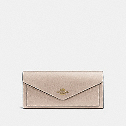 SOFT WALLET - LI/PLATINUM - COACH 59970