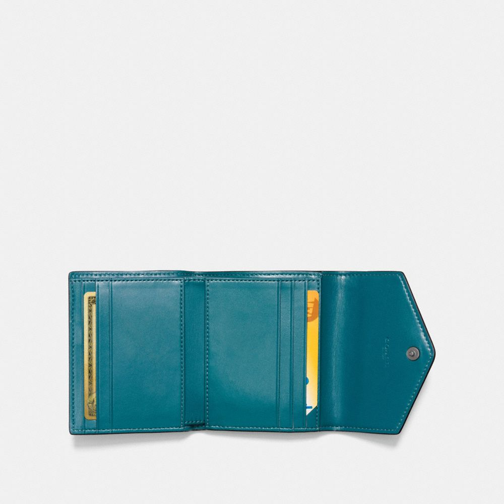 SMALL WALLET IN METALLIC LEATHER - Alternate View