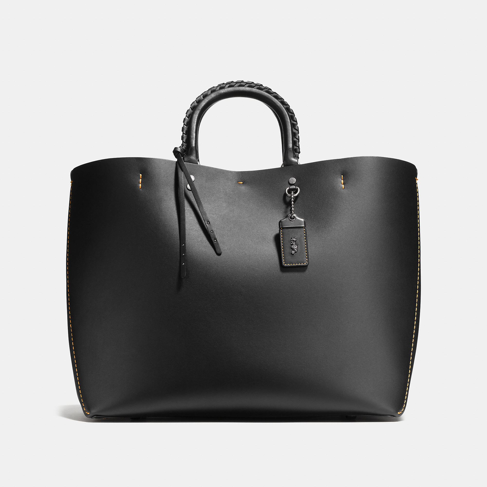 Coach Rogue Tote In Glovetanned Calf Leather With Embellished Handle