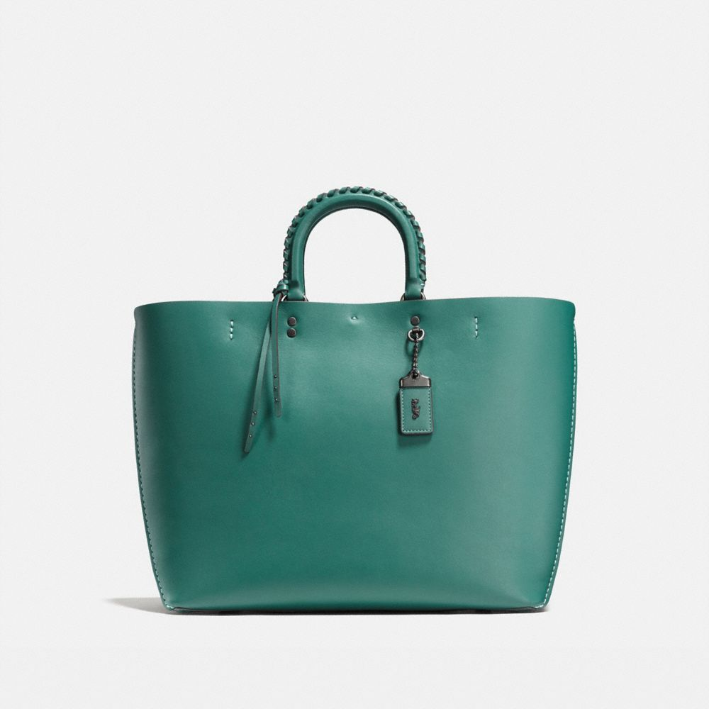 ROGUE TOTE WITH EMBELLISHED HANDLE IN GLOVE CALF - Alternate View