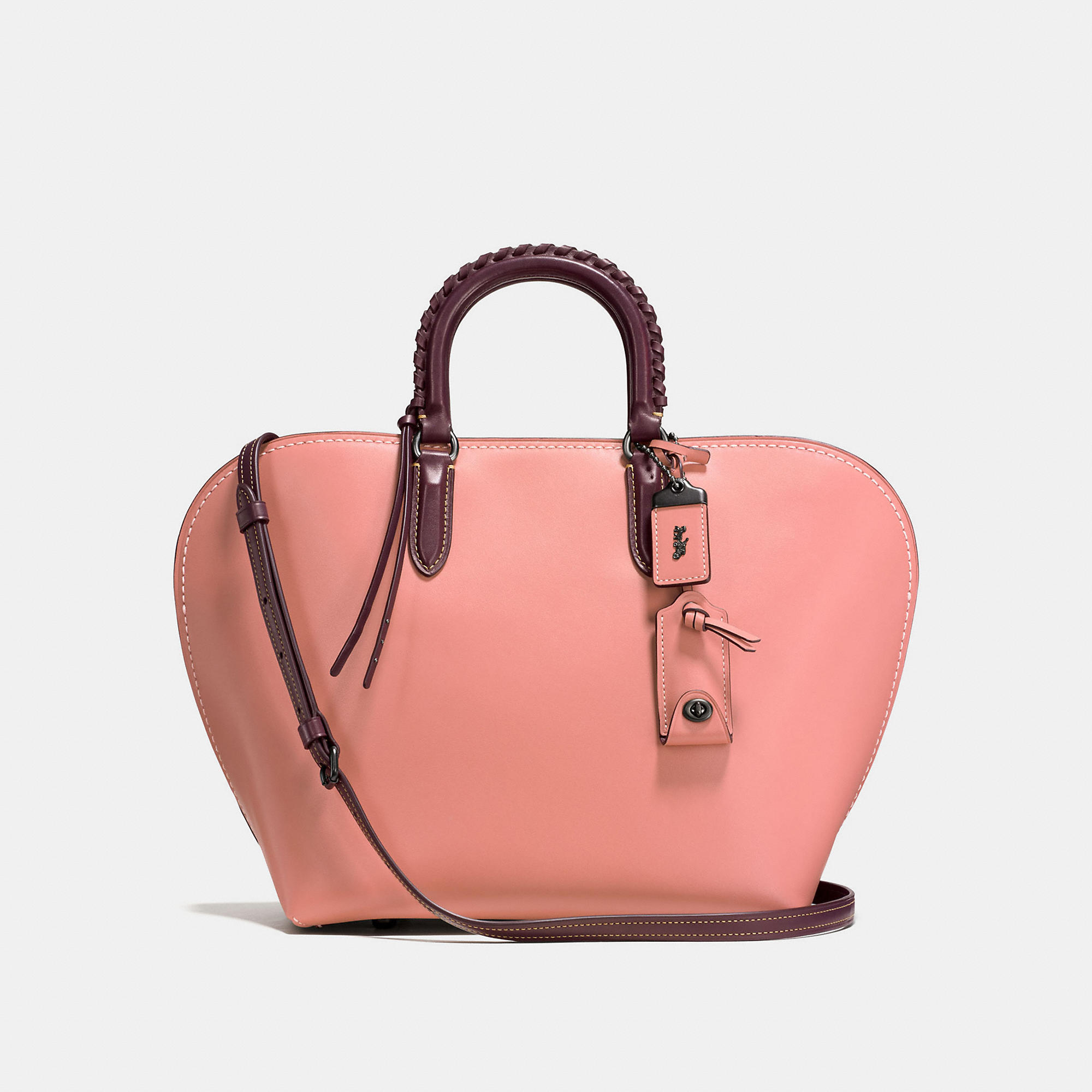 Coach Dakotah Satchel With Embellished Handle In Glovetanned Leather