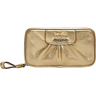 Coach Official Site - LEATHER JEWELRY POUCH :  leather handbags totes official