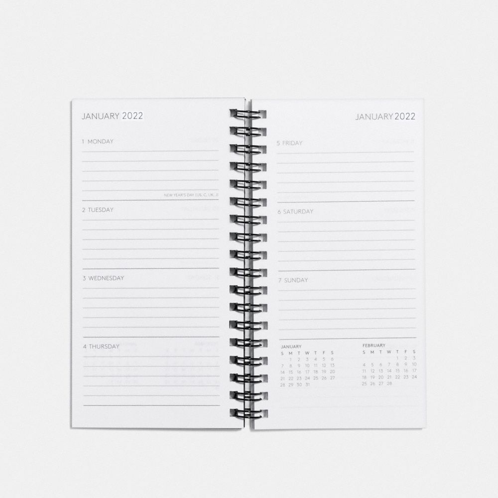 Coach 4x7 Spiral Diary Book Refill Alternate View 1