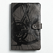 BOWERY LEATHER BIKE PRINT NOTEBOOK