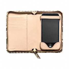 CROSBY EXOTIC PYTHON ZIP PHONE CASE