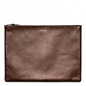 BLEECKER LEATHER LARGE ZIP PORTFOLIO