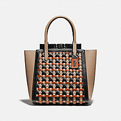 TROUPE TOTE WITH WEAVING - V5/BLACK MULTI - COACH 616
