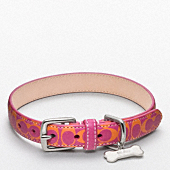 SIGNATURE C PRINTED LEATHER COLLAR