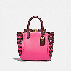 TROUPE TOTE 16 WITH WEAVING - B4/CONFETTI PINK MULTI - COACH 619