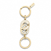 Interlocking C Valet Key Ring