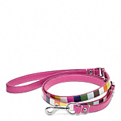 Printed Legacy Stripe Leather Leash