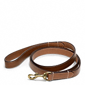 Bleecker Leather Story Patch Dog Leash