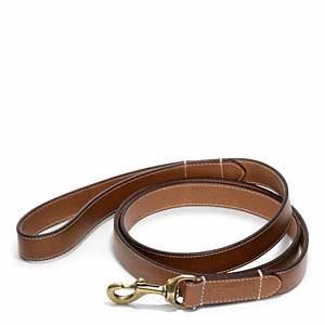 Coach - Bleecker Leather Story Patch Dog Leash Fawn S