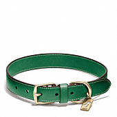 Bleecker Leather Story Patch Dog Collar