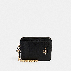 ZIP CARD CASE - IM/BLACK - COACH 6303
