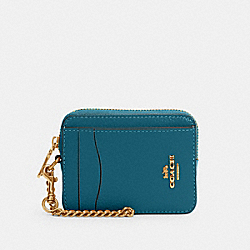 ZIP CARD CASE - IM/TEAL INK - COACH 6303