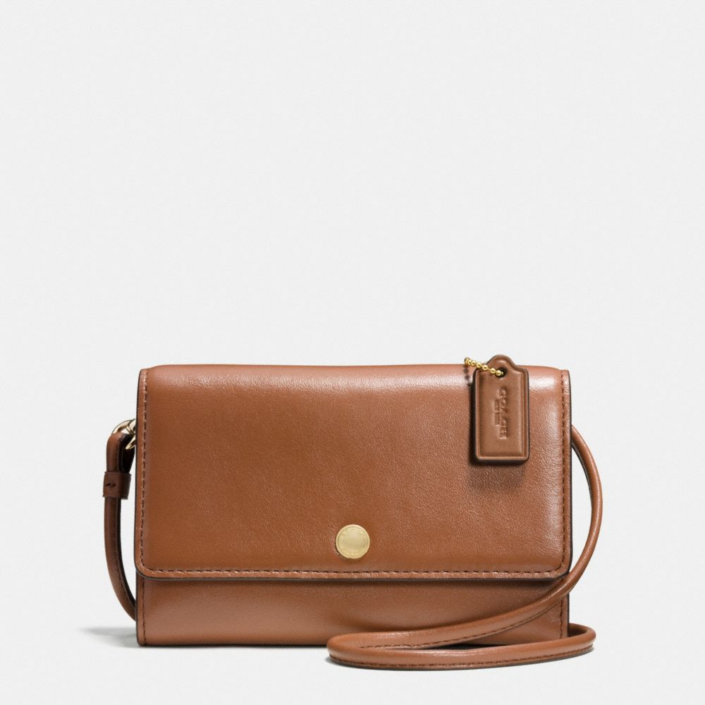 PHONE CROSSBODY IN SMOOTH LEATHER - Alternate View