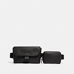 RIDER DOUBLE BELT BAG - QB/BLACK - COACH 6320