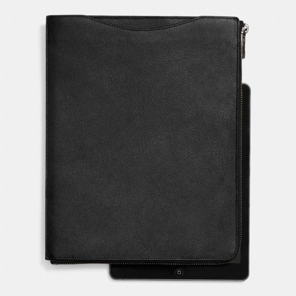 SLIM ZIP TABLET CASE IN CROSSGRAIN LEATHER - Alternate View