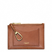 CROSBY DRESS LEATHER ZIP KEYCASE