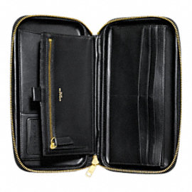 CROSBY DRESS LEATHER MOLDED TRAVEL WALLET